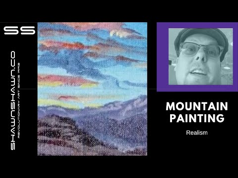 Painting Demo Acrylic: Colorado Mt