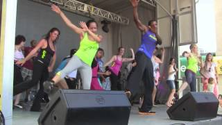 Ginga Fitness Dance fitness Palance at Taste of the Danforth 2013