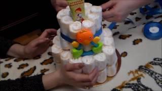 Торт из памперсов. Мастер класс.