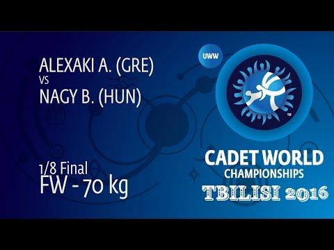 1/8 FW - 70 kg: B. NAGY (HUN) df. A. ALEXAKI (GRE), 2-0
