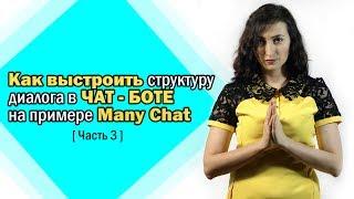 Как выстроить структуру диалога в чат - боте на примере Many Chat Часть 3