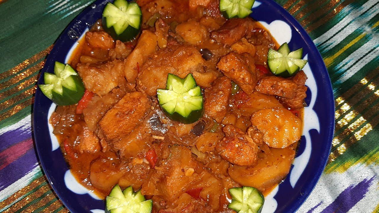 Вкусное жаркое из курицы.Жаркое по домашнему рецепт/Жаркое с картошкой