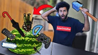 Using RANDOM Objects As Throwing WEAPONS!! 2 (WILL IT STICK CHALLENGE!!)
