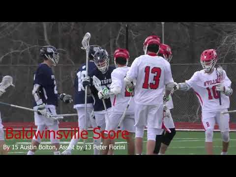 Game Highlights Spring Boys Varsity Lacrosse Baldwinsville VS Pittsford 4/07/2018 4k