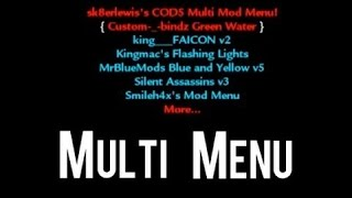 How To Install Sk8erlewis COD5 Multi Mod Menu, No Jailbreak Ps3