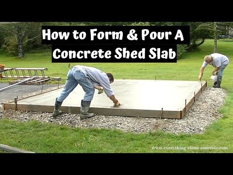 How To Form, Pour, And Finish A Concrete Shed Slab! DIY!