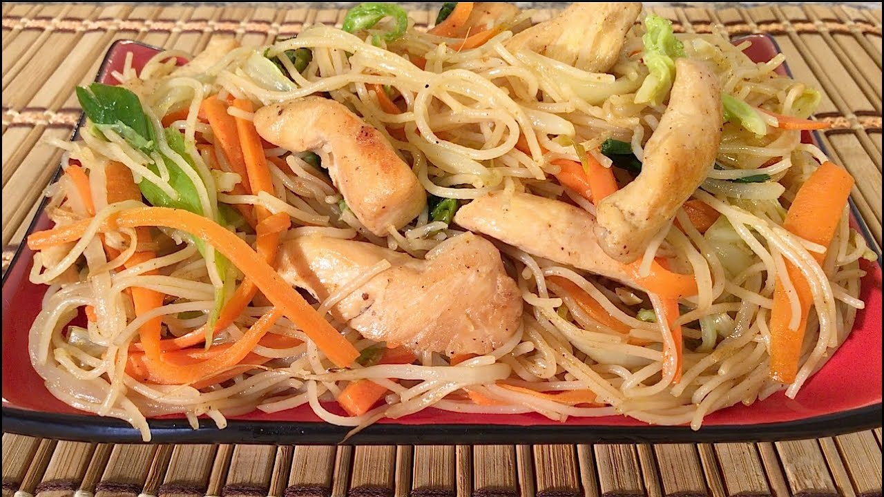 How to make chicken mei fun rice noodles chinese food recipes how to make chicken mei fun rice noodles chinese food recipes singapore style youtube forumfinder Images