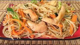 How To Make Chicken Mei Fun Rice Noodles-Chinese Food Recipes Singapore Style