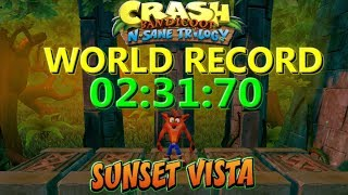 Sunset Vista World Record 02:31:70 - Crash Bandicoot N Sane Trilogy