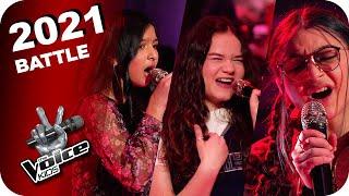 Tones And I - Dance Monkey (Viktoria/Vivienne/Aanvi)   The Voice Kids 2021   Battles