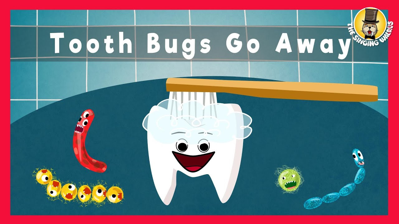 Tooth Bugs Go Away | Brushing Teeth | The Singing Walrus