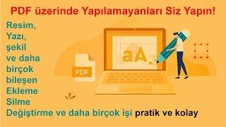 PDF Üzerinde Değişiklik Yapmak (Kolay ve Pratik)