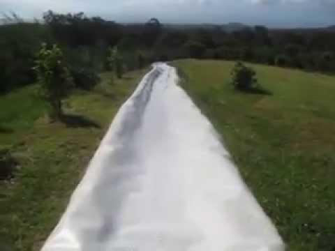 Homemade Waterslide - Maui, May 2013
