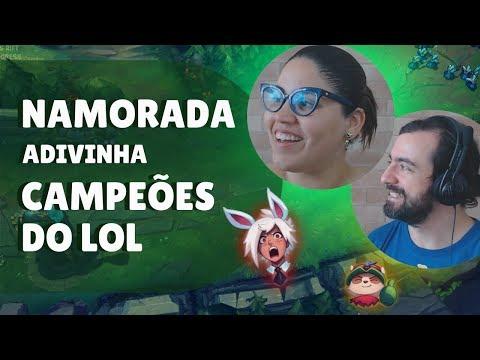 MINHA NAMORADA DANDO NOME AOS CAMPEÕES DO LEAGUE OF LEGENDS thumbnail