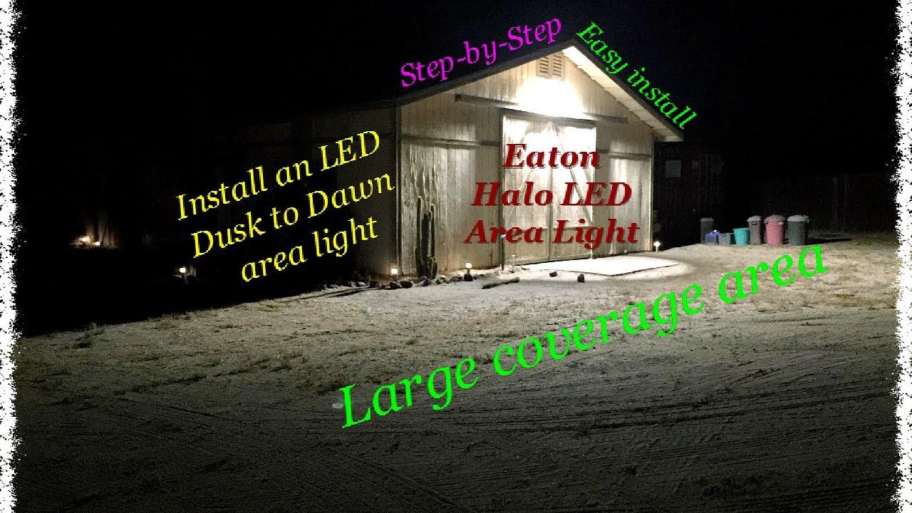 How to install a halo led area light youtube how to install a halo led area light aloadofball Gallery