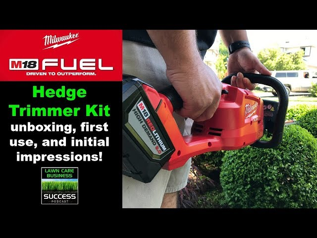 Milwaukee M18 Fuel Hedge Trimmer Kit unboxing, first use, and initial impressions