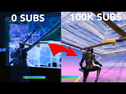 My Fortnite Progression: 0 To 100k Subscribers