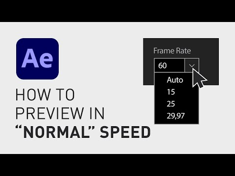 How to preview in normal speed