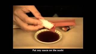 cách ăn Sushi tức cười nhất