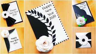5 Easy Happy New Year 2020 card making idea DIY greeting card idea for New Year Handmade Card Making