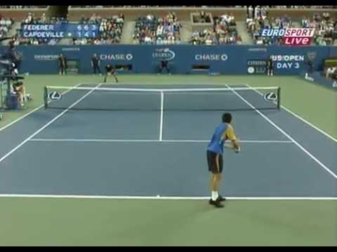 Roger Federer vs Paul Capdeville - 2nd - US Open 2007