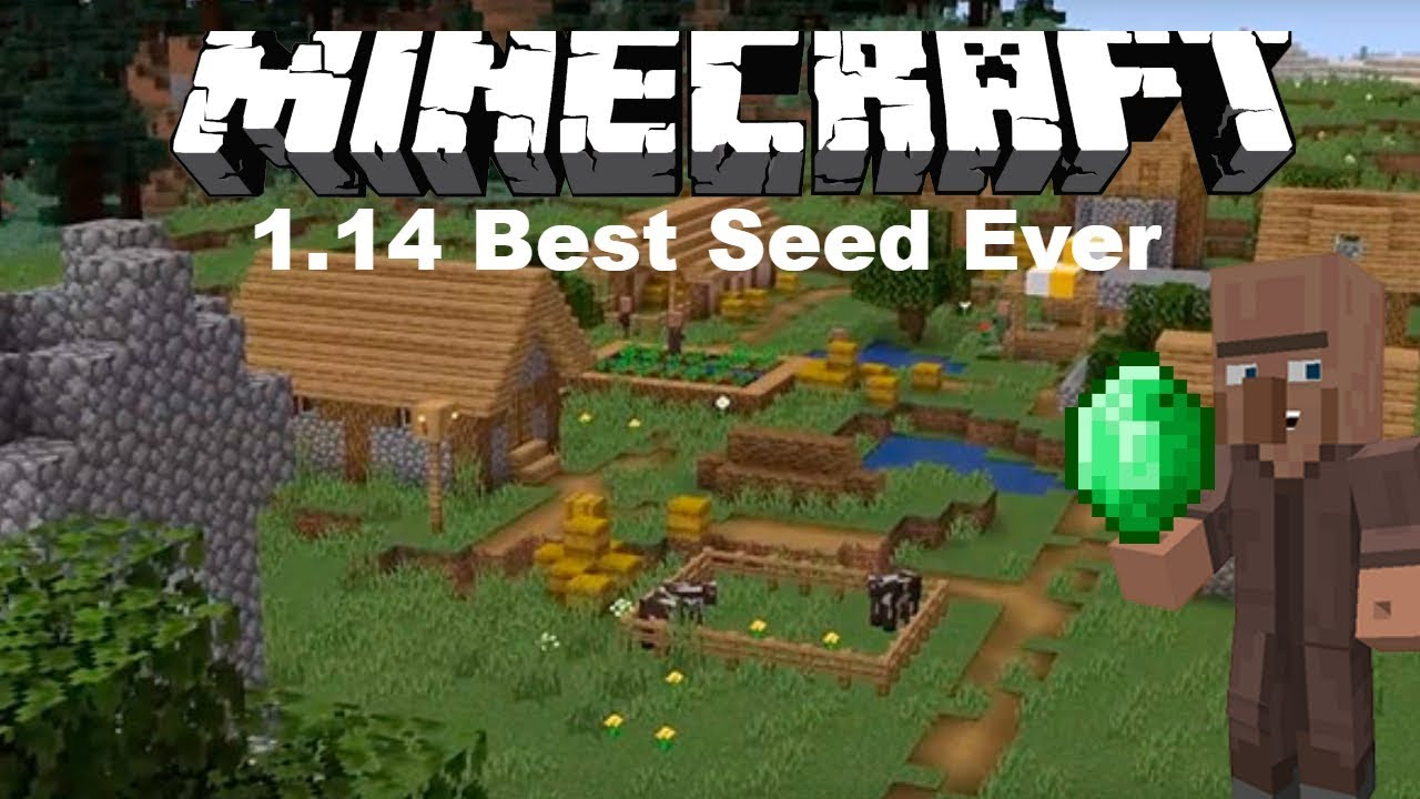 Minecraft Ps4 Best 1 14 Seed Lots Of Villages Loot Lots More Youtube