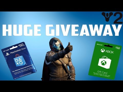 Destiny 2 GIFT CARD GIVE AWAY Finally Making a Titan xbox/Playstation