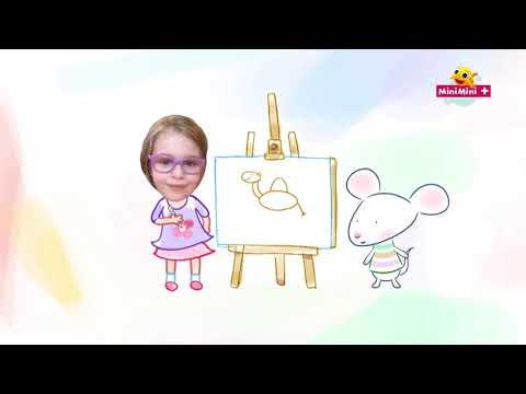 Rysuj z Myszką w paski | Wielbłąd | MiniMini+