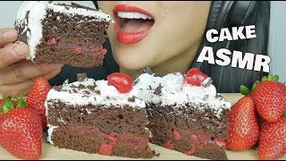 ASMR BLACK FOREST CAKE (EATING SOUNDS) | SAS-ASMR