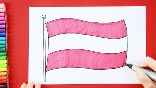 How to draw and color the Flag of Austria
