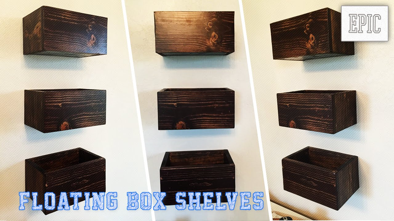 my next project floating box shelves youtube. Black Bedroom Furniture Sets. Home Design Ideas