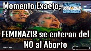 Momento en que Feminazis se enteran del Rechazo al Aborto en Argentina