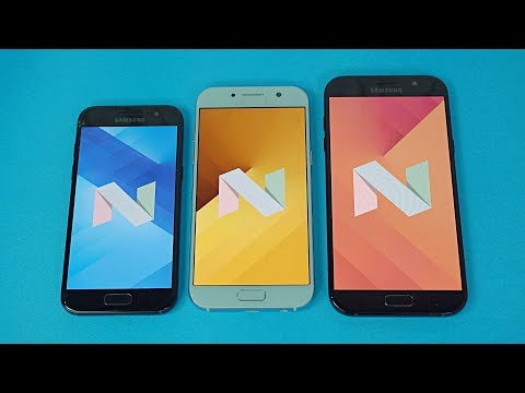 Samsung Galaxy A5, A7 & A3 2017 OFFICIAL Android 7.0 Nougat Update Review!