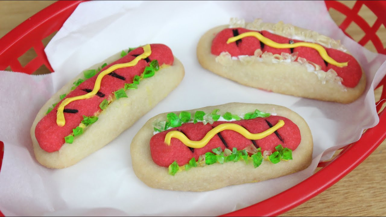How to Make Hot Dog Cookies! - YouTube