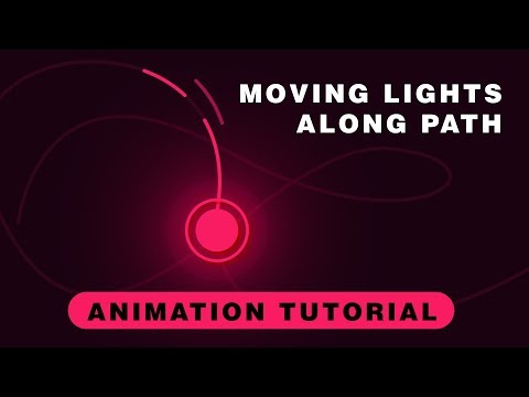 After Effects Tutorial: Animate Light Along a Path | Custom Path Animation
