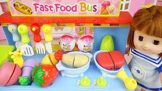 Baby doll food car kitchen toys Baby Doli play