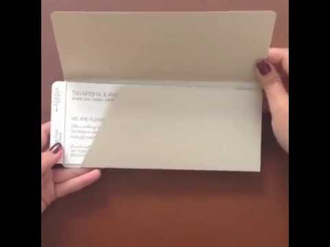 Luxury Letterpress Airline Ticket Wedding Invitation By Ceci New York    YouTube  Airline Ticket Invitation