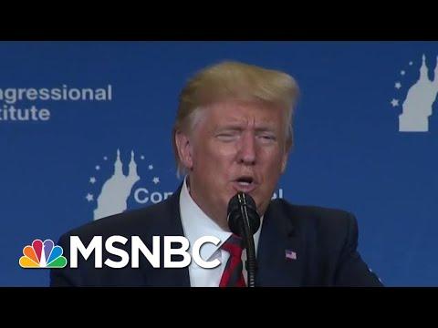 'I Always Look Orange' Trump Hits Light Bulbs As Dems Debate Policy   MSNBC