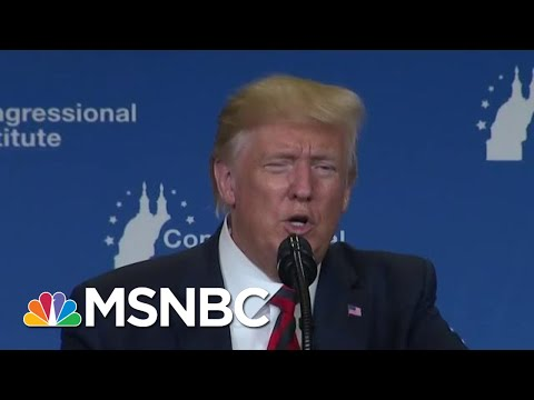 'I Always Look Orange' Trump Hits Light Bulbs As Dems Debate Policy | MSNBC