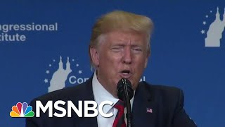 'I Always Look Orange' Trump Hits Light Bulbs As Dems Debate Policy | MSNBC