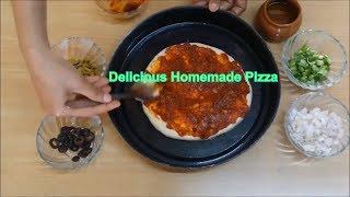 Pizza Recipe  How to make Vegetable Pizza  Veg Pizza Recipe  Vegetarian pizza - RecipesOnBoard