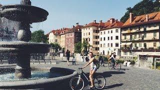 Любляна. Катаемся на велосипедах(Любляна, столица Словении глазами велосипедиста. Едем из северной части Любляны по Celovška cesta в центр, через..., 2014-06-11T08:03:10.000Z)