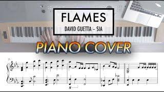 Flames - David Guetta, Sia | Piano Cover (with Sheet Music) Video