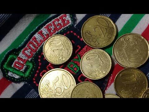 Moedas de 10 cents,20 cents e 50 cents de euro da Espanha e Cervantes