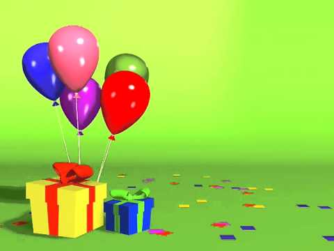 BIRTHDAY BALLOONS loop background - YouTube