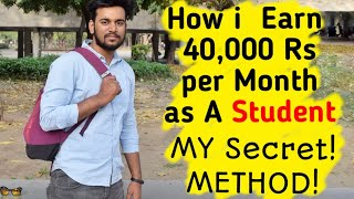 How I Earn Money As A STUDENT! My Secret Method!