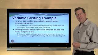 23-- Variable Costing Versus Absorption Costing