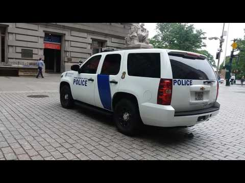 United States Homeland Security Federal Protective Services Police Parked In Manhattan, New York
