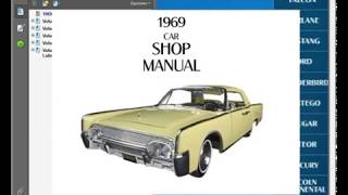 Lincoln Continental 1969 Service Manual Wiring Diagram Youtube