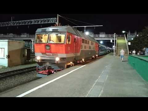 Смена локомотива поезда №39 Полоцк - Москва // первое видео на новую камеру